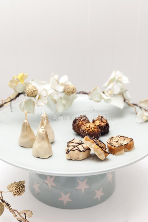 Belle piccole torte nunziali immagini stock libere da diritti