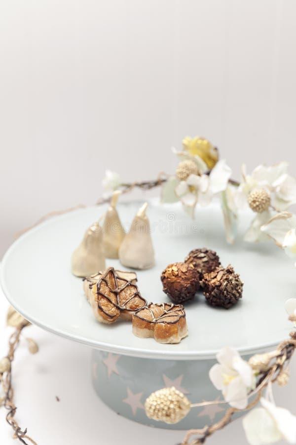 Belle piccole torte nunziali fotografia stock