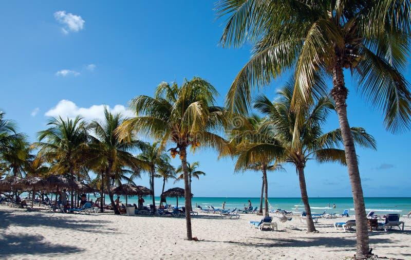 Belle plage à Varadero, Cuba photo stock
