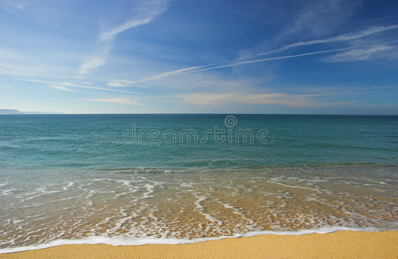Belle plage photo libre de droits