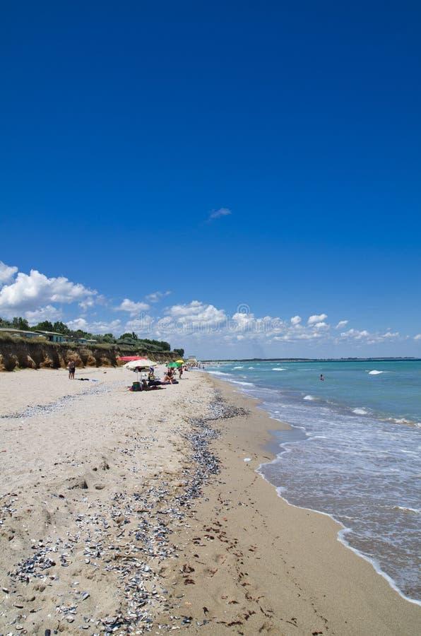 Belle plage de la Mer Noire, Shabla, Bulgarie image libre de droits
