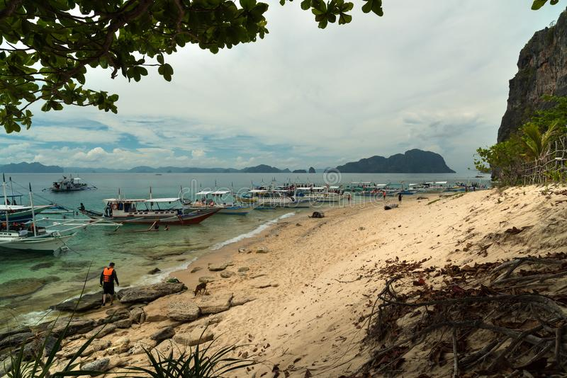 Belle plage - EL Nido - Palawan - Philippines photographie stock