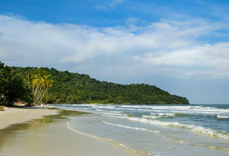 Belle plage en île de Phu Quoc, Vietnam photo libre de droits