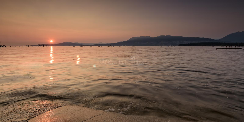 Belle plage en plage Vancouver Canada de kitasilano photos libres de droits