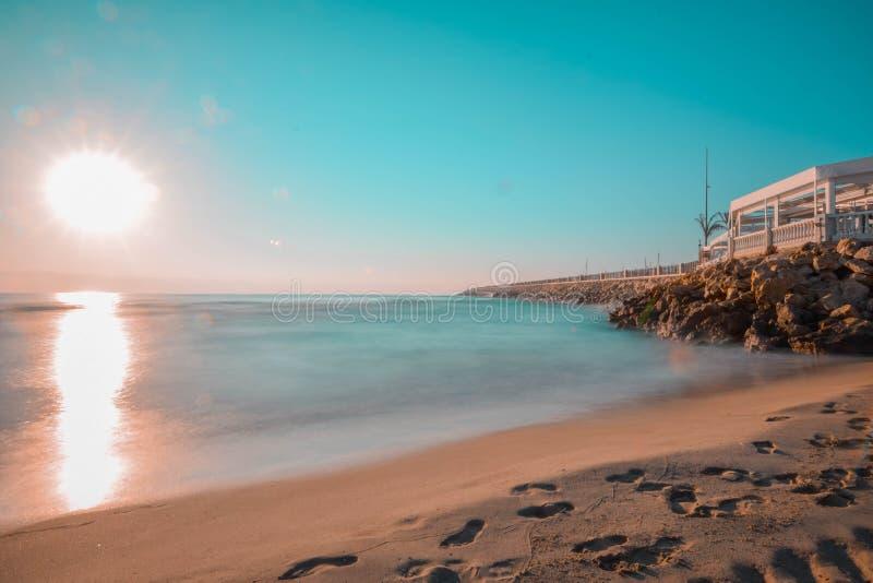Belle plage espagnole image libre de droits