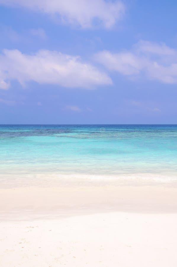 Belle plage et ciel bleu image libre de droits