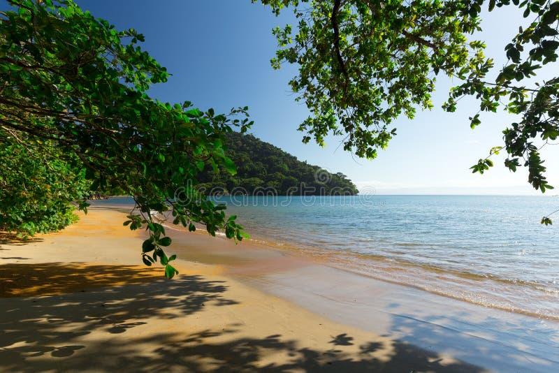 Belle plage rêveuse de paradis, Madagascar images stock
