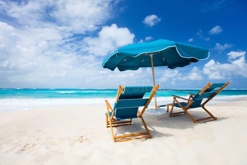 Belle plage des Caraïbes images libres de droits