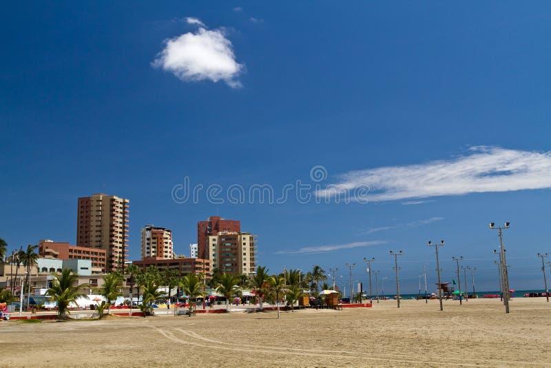 Belle plage touristique de Murcielago dans Manabi images libres de droits