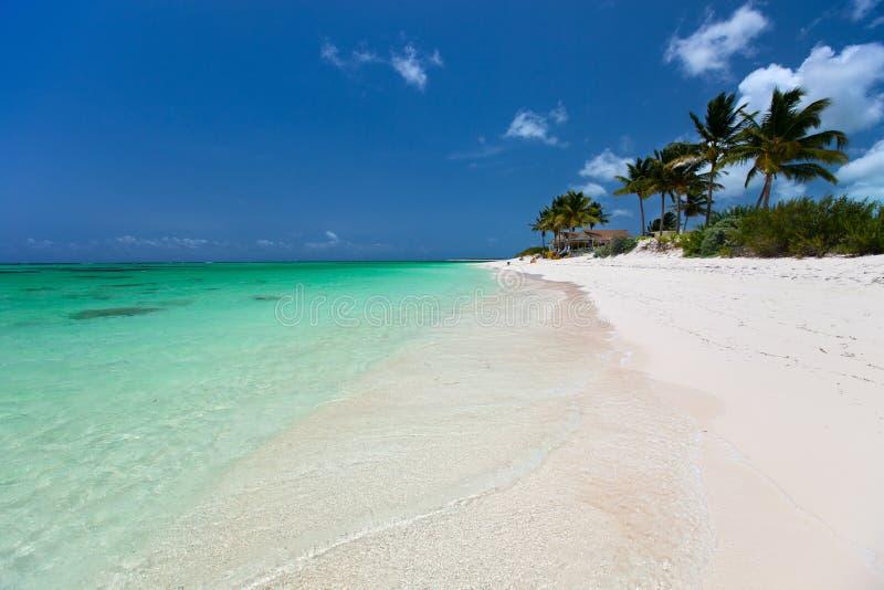 Belle plage tropicale chez les Caraïbe photos stock
