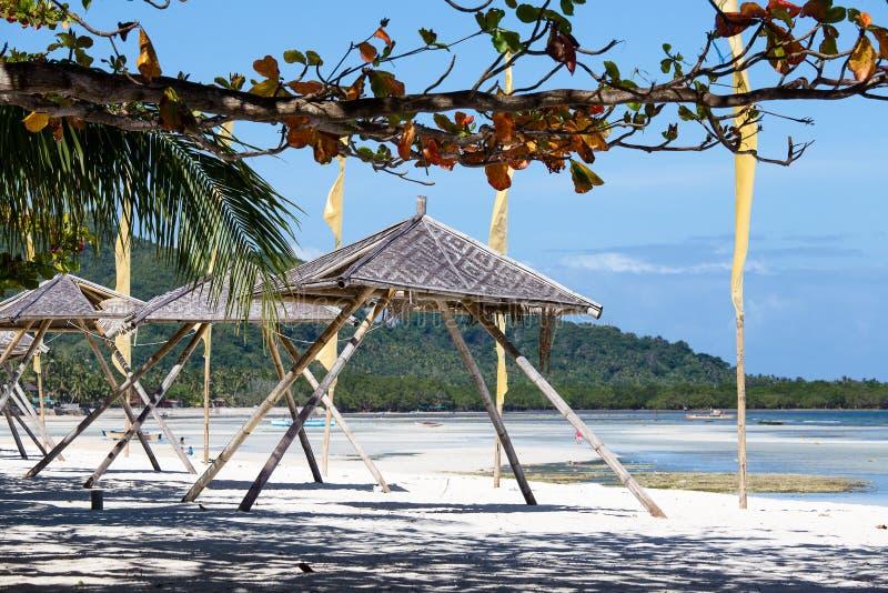 Belle plage tropicale, Philippines photos libres de droits