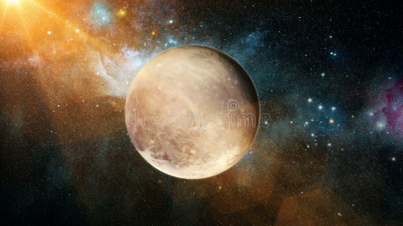 Belle planète réaliste Pluton d'espace lointain photographie stock