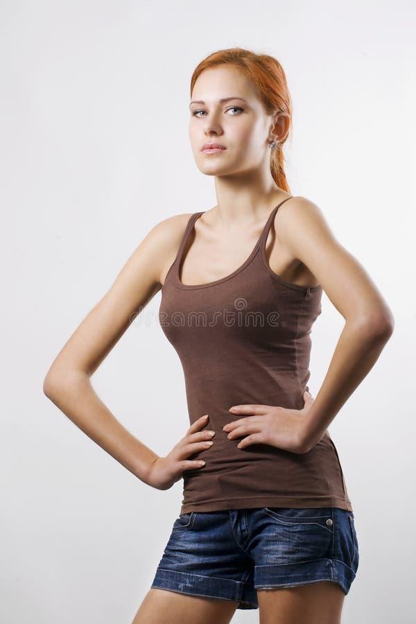 Belle pose de modèle de mode image stock