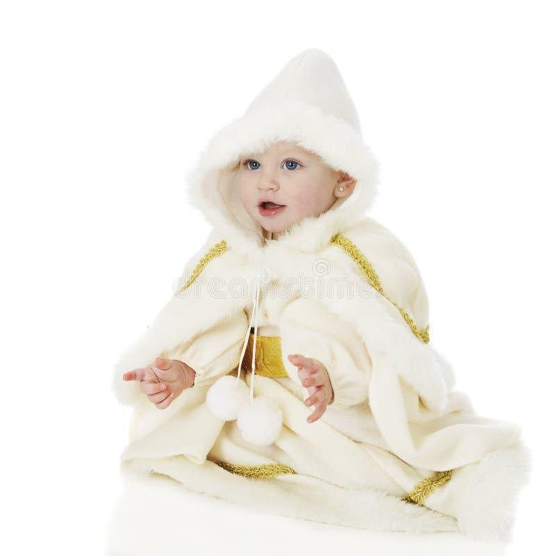 Belle princesse de neige de bébé photographie stock libre de droits