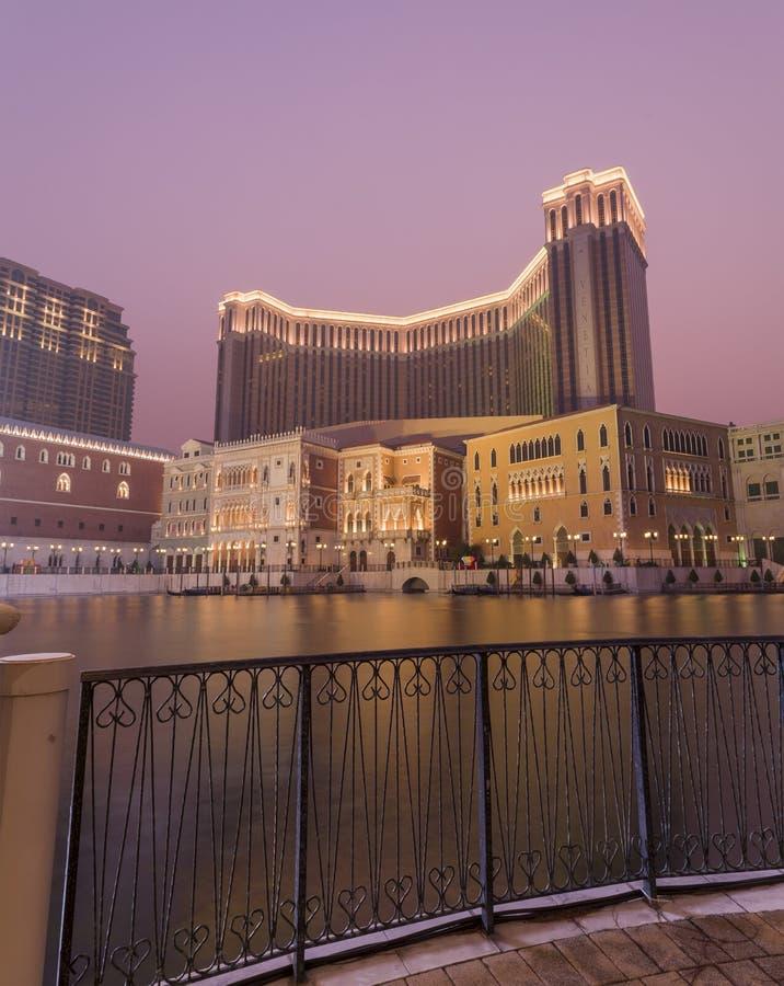 Belle réflexion de vénitien chez Macao photographie stock