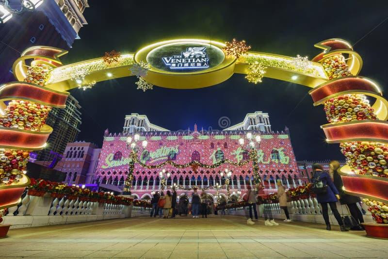 Belle réflexion de vénitien chez Macao photographie stock libre de droits