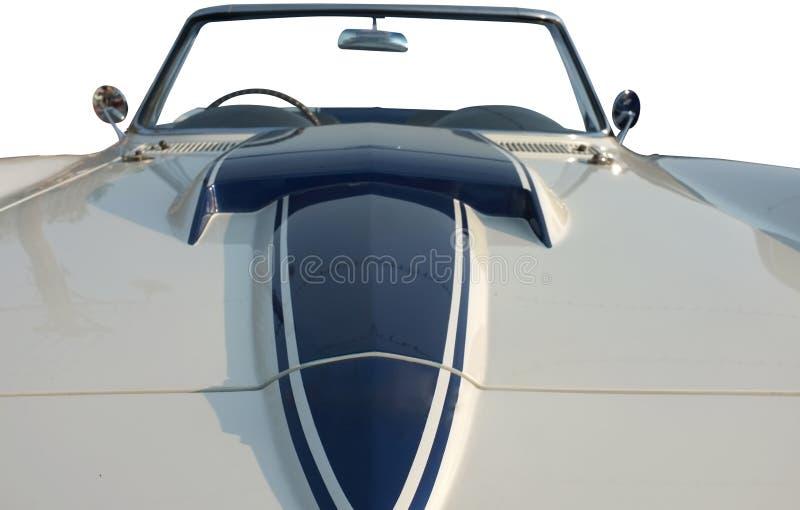 Belle rétro voiture avec le capot photo stock