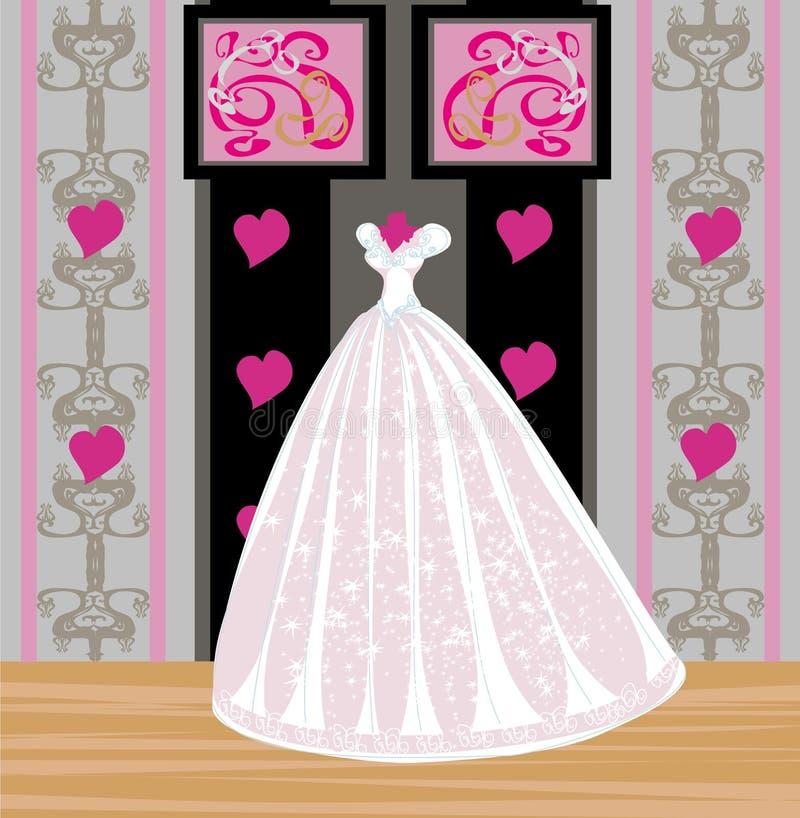 Belle robe de mariage sur un mannequin illustration de for Belle boutique de mariage