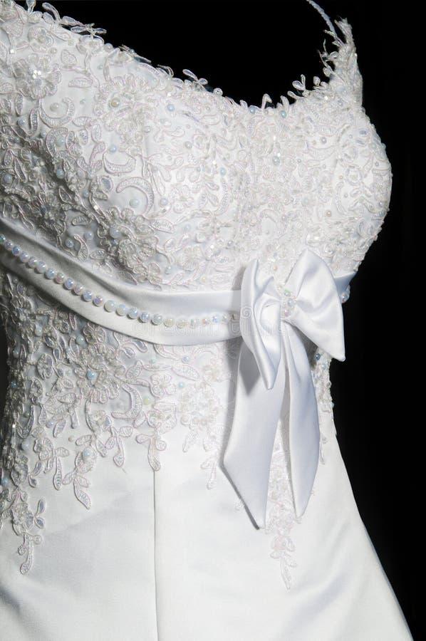 Belle Robe De Mariages Femelle Sur Un Mannequin Photographie stock libre de droits