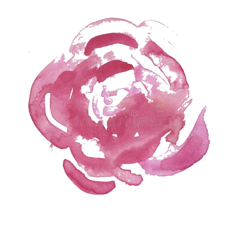 Belle Rose Flower rouge-clair d'isolement sur le fond blanc Illustration de vecteur illustration de vecteur