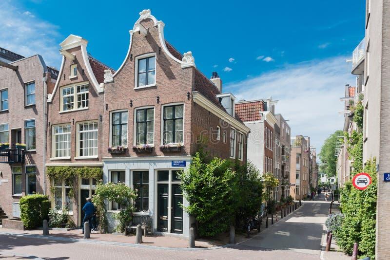 Belle rue à Amsterdam photo libre de droits