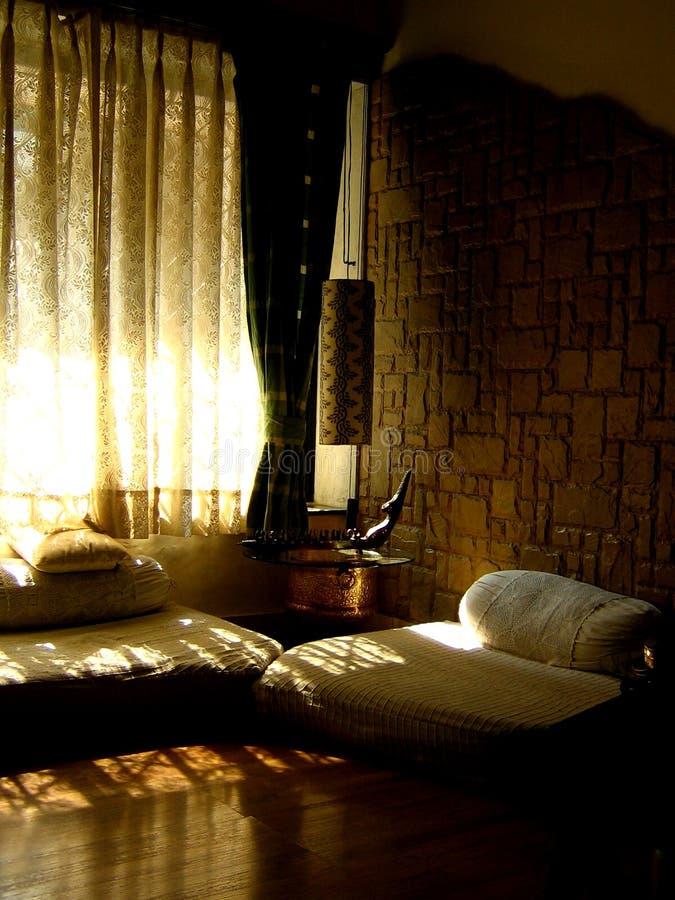 Belle salle de séjour photo libre de droits
