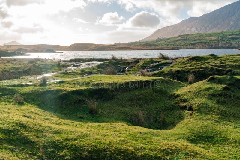 Belle scène de nature autour de parc national de Connemara photo libre de droits
