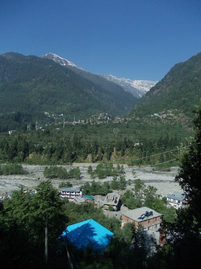 Belle scène de paysage de Manali photo stock