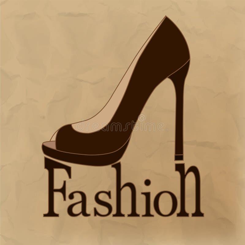 Belle, scarpe alla moda e femminili illustrazione di stock