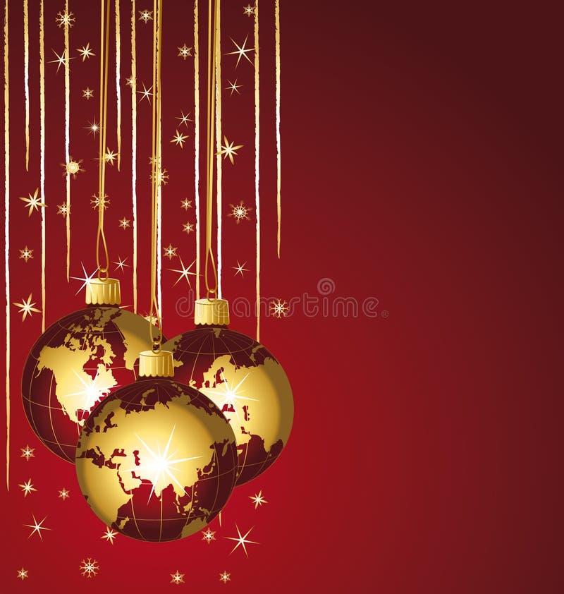 Belle sfere di natale del mondo. royalty illustrazione gratis
