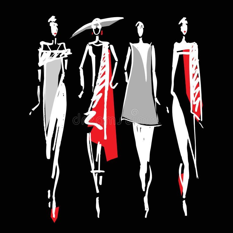 Belle silhouette de femme illustration libre de droits