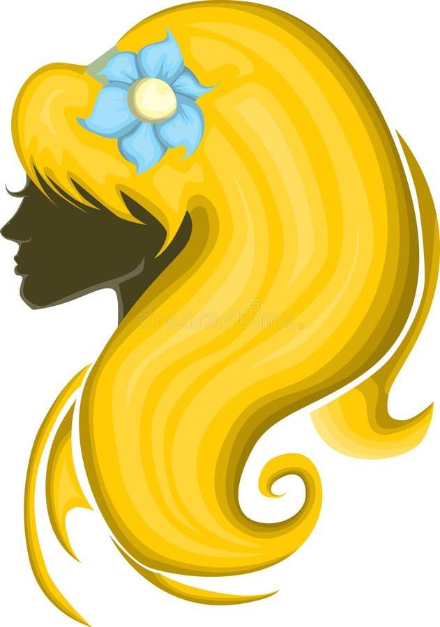 Belle silhouette de fille illustration stock