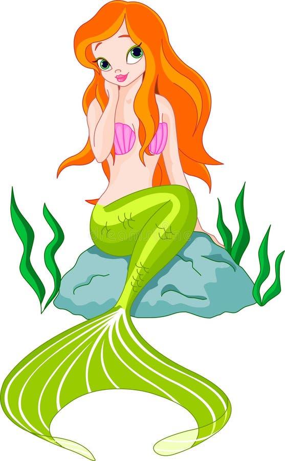 Belle sirène illustration de vecteur