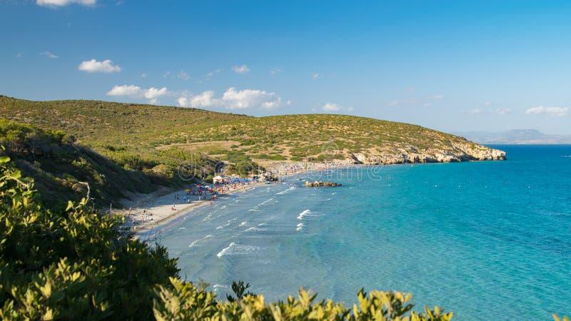 Belle spiagge incontaminate di San Pietro Island, Sardegna, Italia fotografie stock
