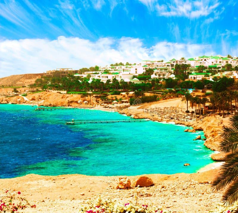 Belle station de vacances en Mer Rouge de l'Egypte photographie stock