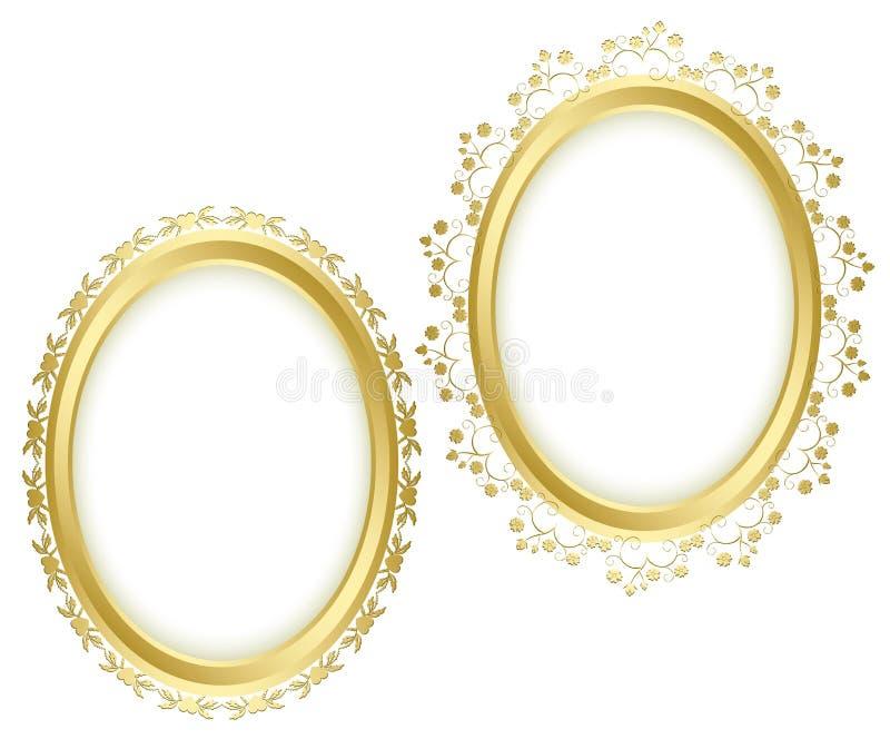 Belle strutture decorative dorate - insieme royalty illustrazione gratis