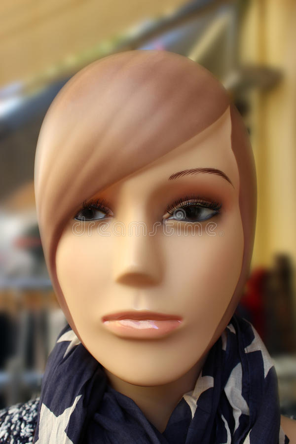 Belle tête de mannequin image stock