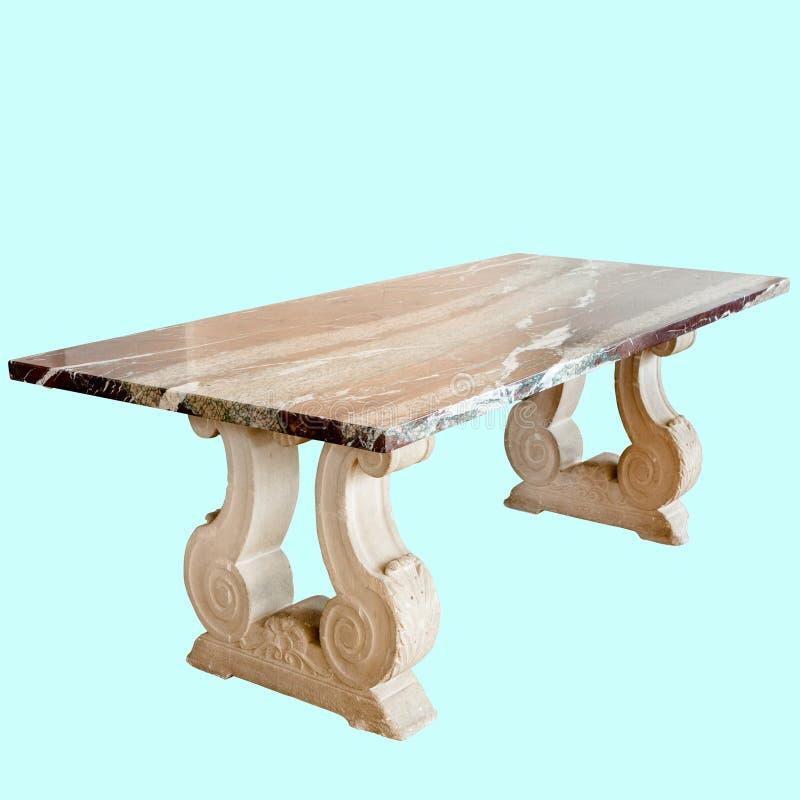 Belle table en bois et en verre de centre de conception image libre de droits