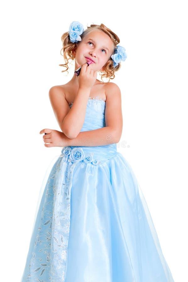 belle target1395_1_ zadumany małego jej wargi obraz royalty free
