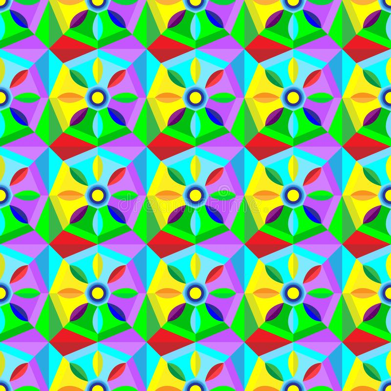 Belle texture abstraite avec des formes géométriques et des étoiles illustration de vecteur