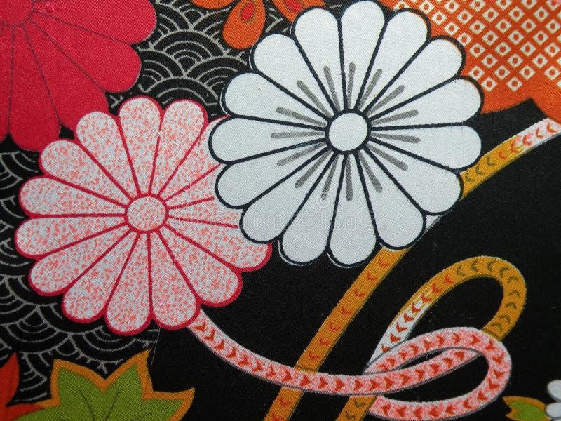 Belle texture florale de tissu en soie images libres de droits