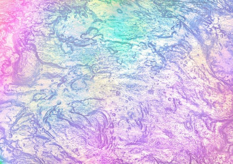 Belle texture olographe abstraite d'aluminium avec des couleurs de licorne Fond dernier cri images libres de droits
