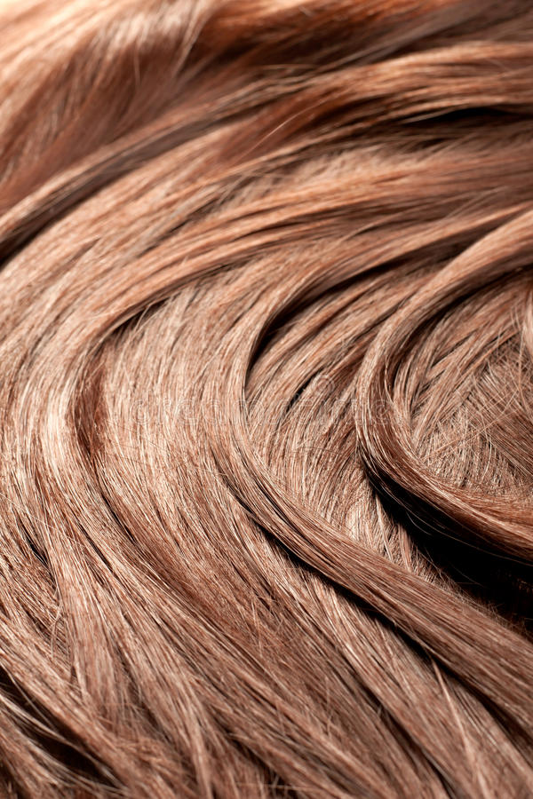 Belle texture rouge de cheveu, projectile de plan rapproché image stock