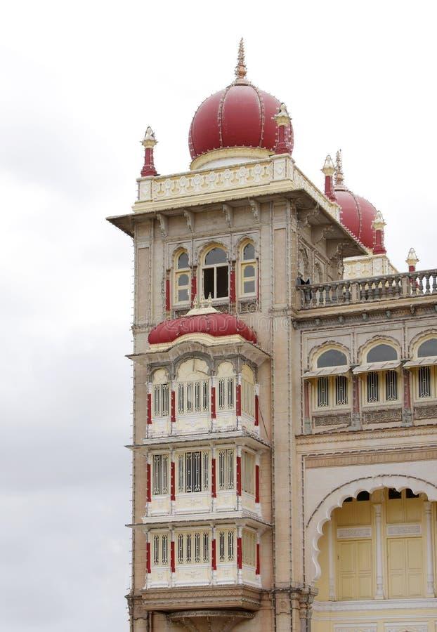 Belle torrette del sud del palazzo di Mysore fotografia stock