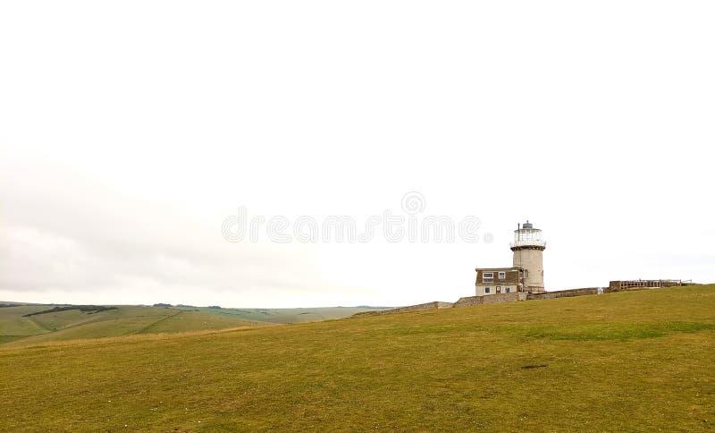 Belle Tout fyr vid Beachy Head, Eastbourne fotografering för bildbyråer