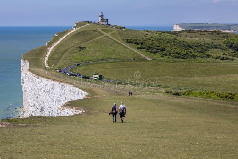 Belle Tout Lighthouse in Sussex orientale fotografie stock libere da diritti
