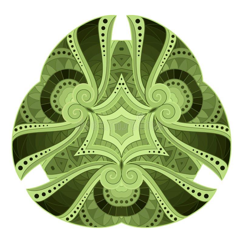 Belle triangle de vecteur en couleurs illustration stock