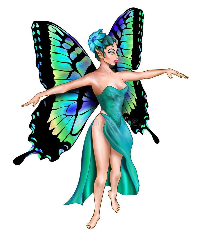 belle turquoise féerique illustration stock
