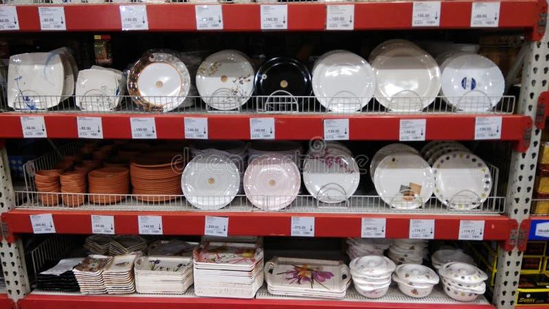 Belle vaisselle de cuisine peinte image libre de droits