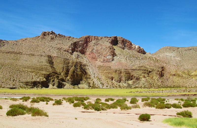 Belle vallée d'altiplano photographie stock